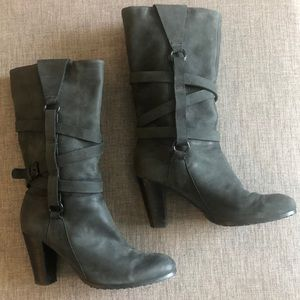 Plenty by Tracy Reese strappy leather boots